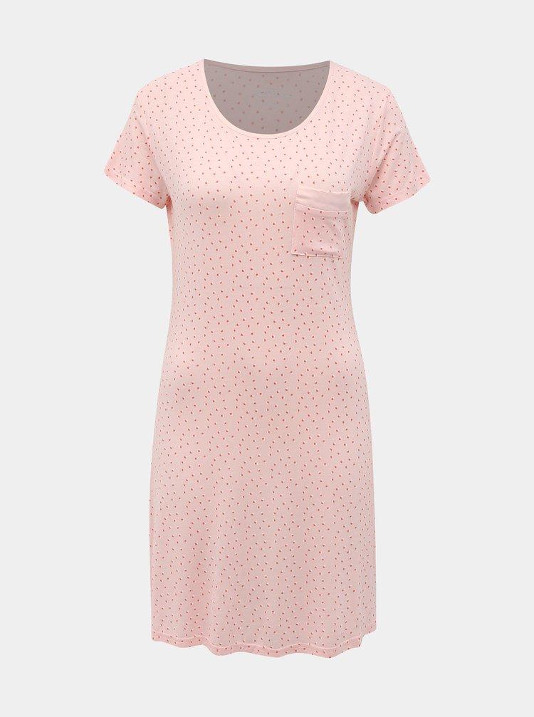 Růžová puntíkovaná noční košile M&Co