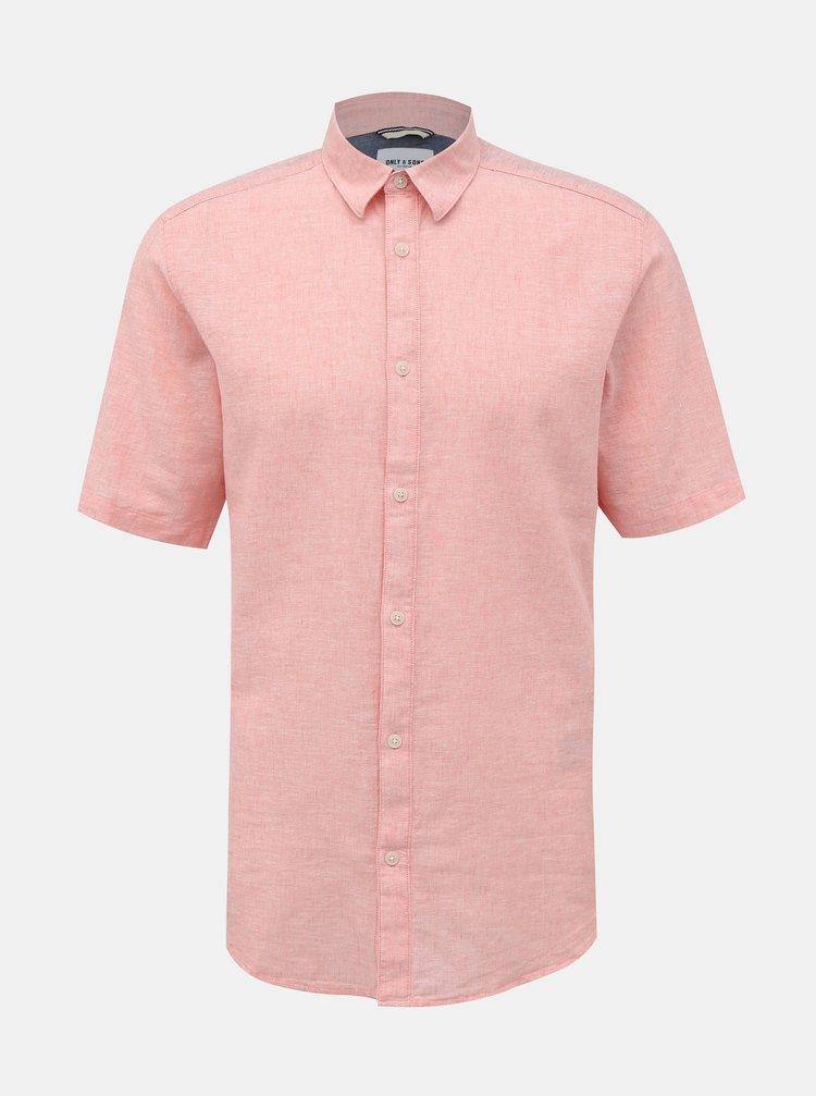 Tricouri cu maneca scurta pentru barbati ONLY & SONS - roz