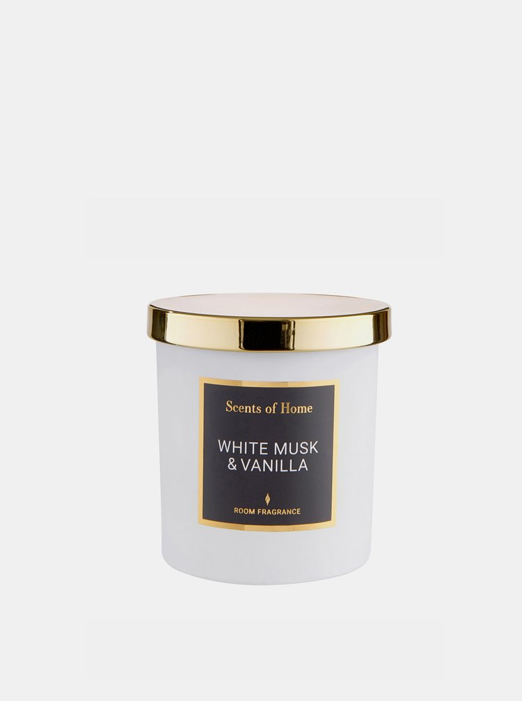 Biela sviečka s vôňou vanilky BUTLERS