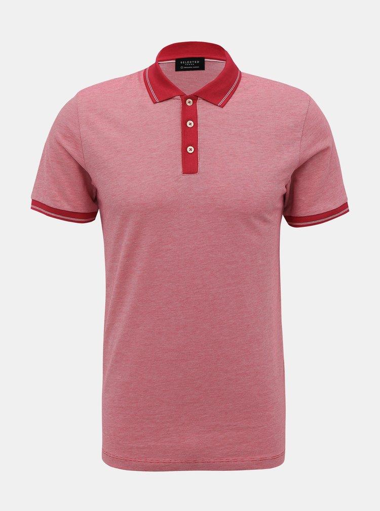 Červené polo tričko Selected Homme Joe