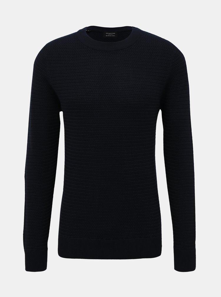 Tmavě modrý basic svetr Selected Homme Tommy