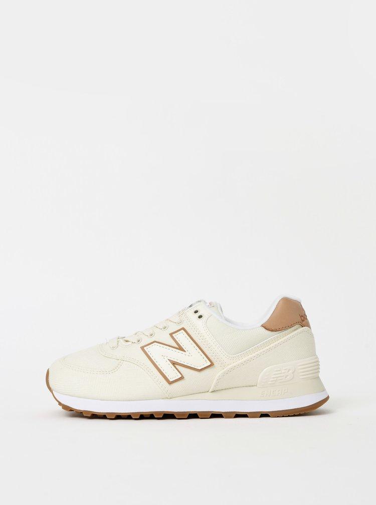 Pantofi sport si tenisi pentru femei New Balance - crem