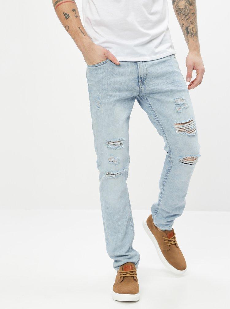 Skinny fit pentru barbati Jack & Jones - albastru deschis