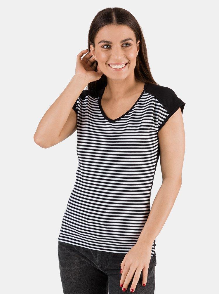 Černé dámské pruhované tričko SAM 73 Jonna