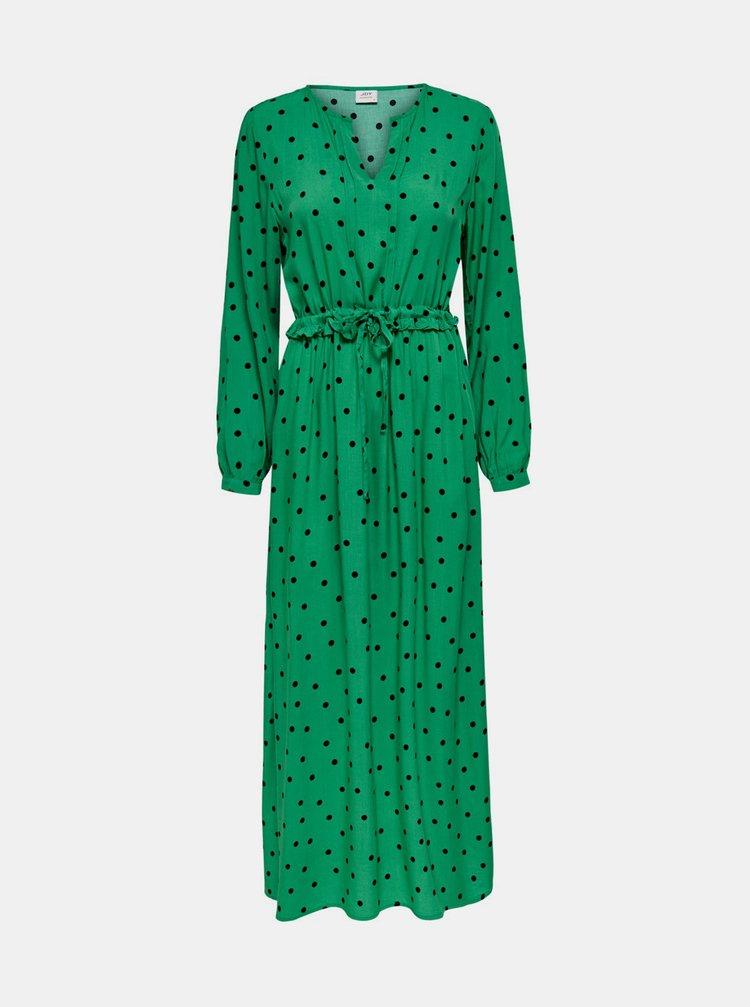Zelené puntíkované maxišaty Jacqueline de Yong Susie