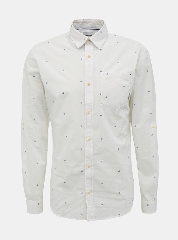 Bílá vzorovaná košile Jack & Jones Carlo