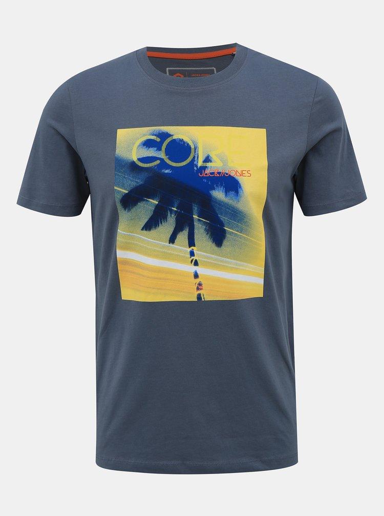 Šedé tričko s potiskem Jack & Jones Lazer
