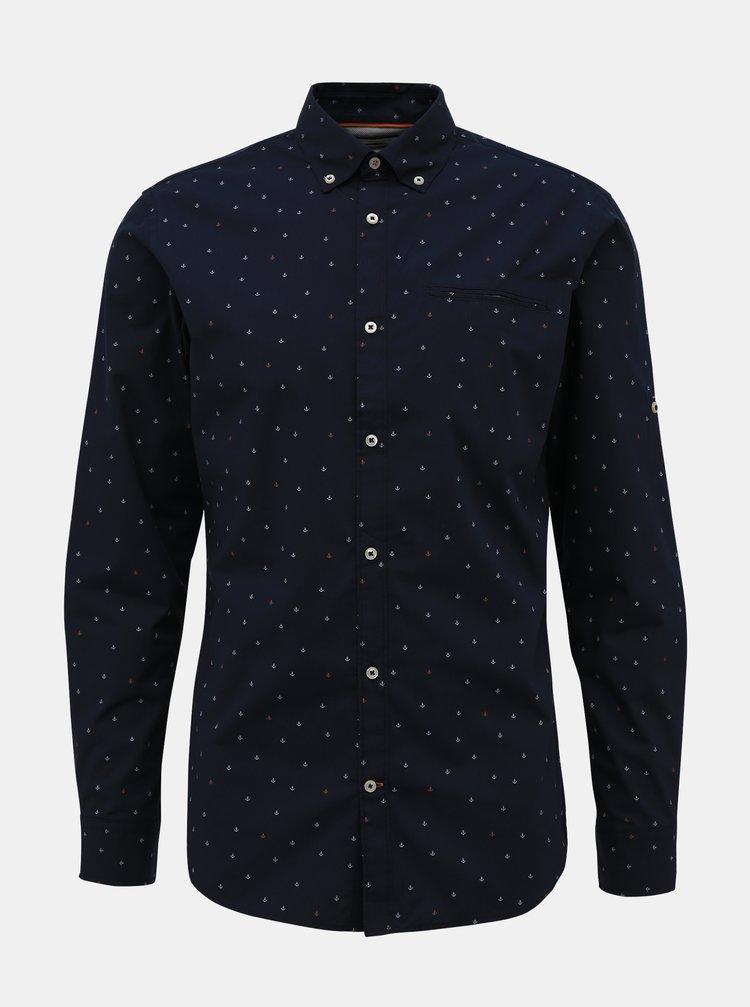 Tmavě modrá vzorovaná košile Jack & Jones Paris