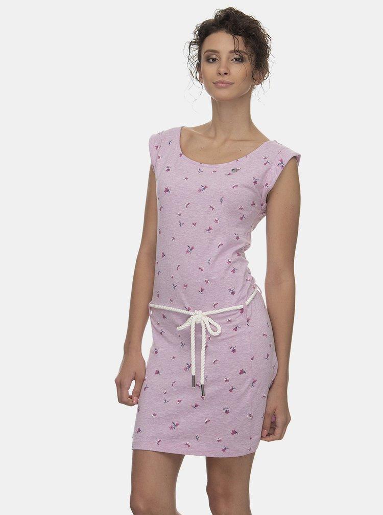 Růžové květované šaty Ragwear Tamy