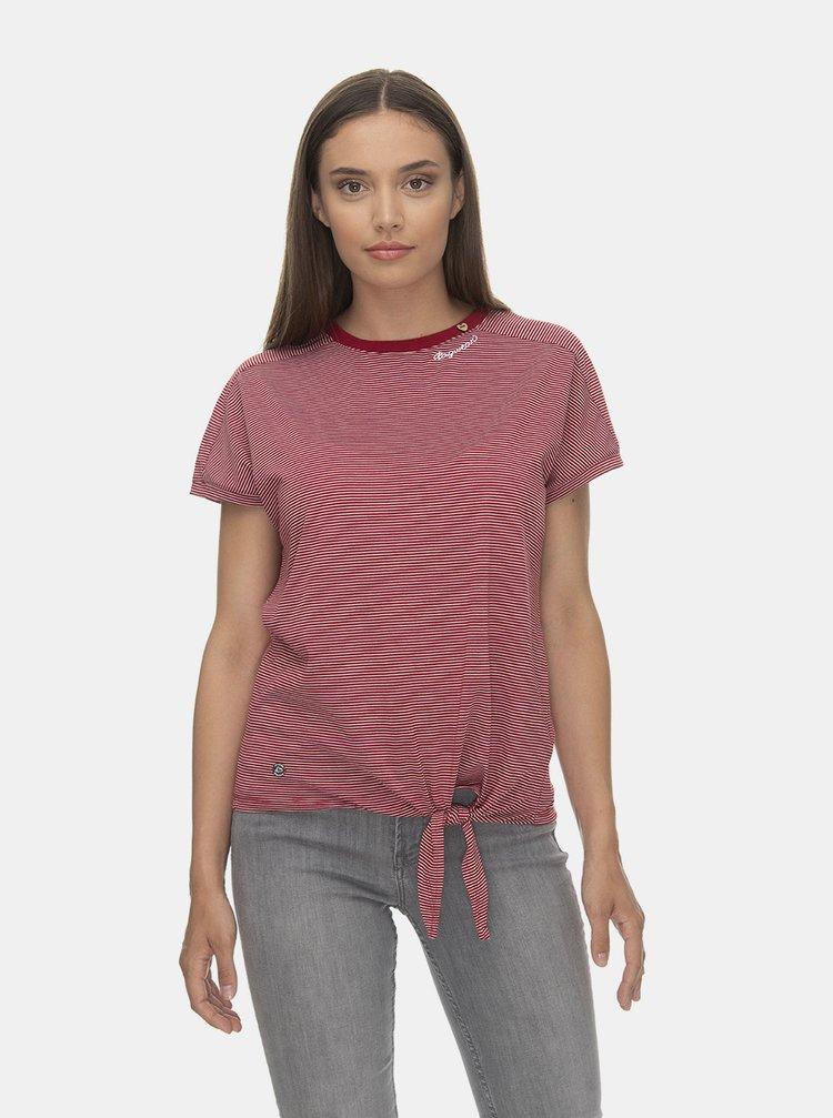 Vínové pruhované tričko Ragwear Bolivia