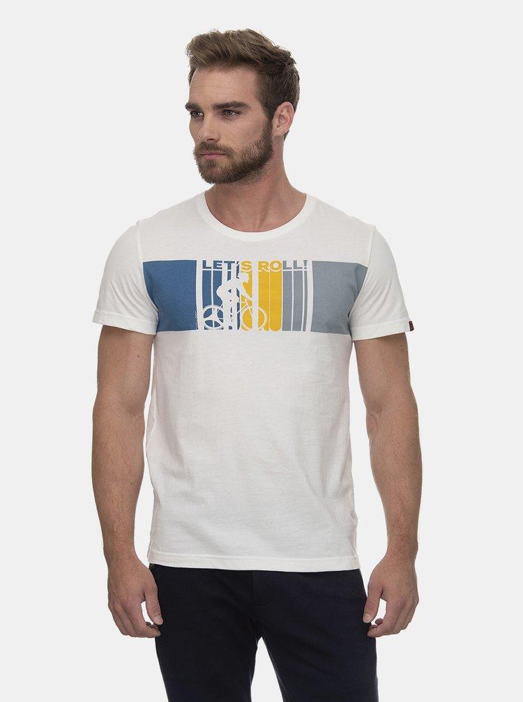 Bílé pánské tričko s potiskem Ragwear Blaize