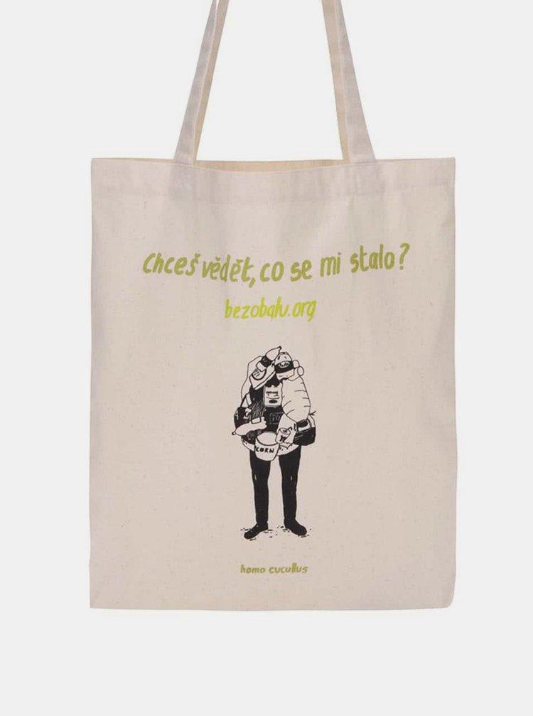 """""""Dobrá"""" plátenná taška Co se stalo pro Bezobalu"""