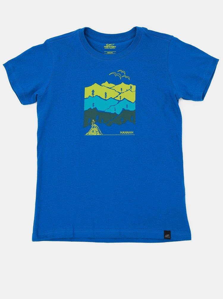Modré dětské tričko s potiskem Hannah Darley