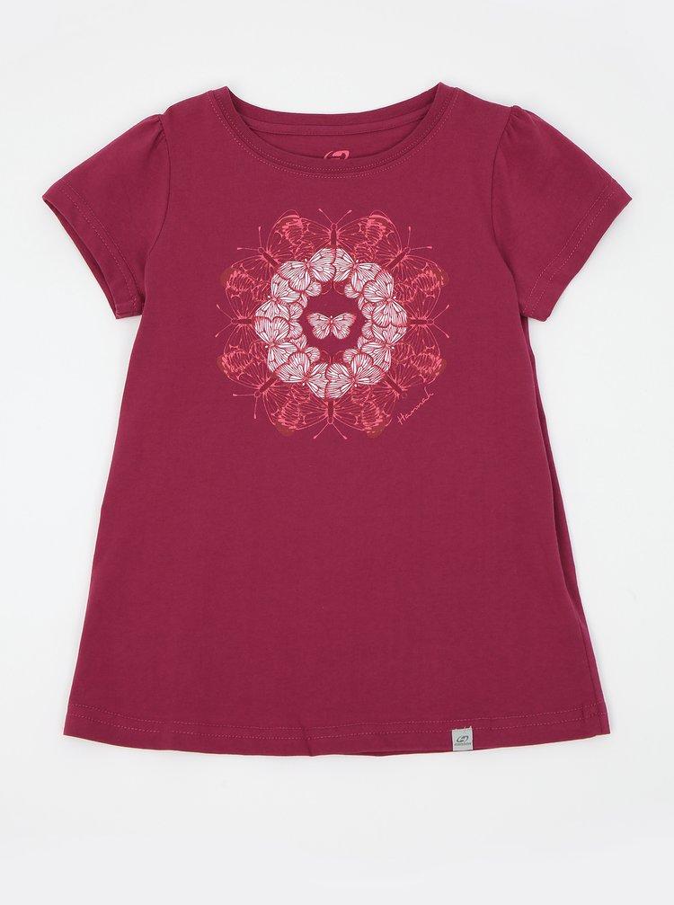 Tmavě růžové holčičí tričko s potiskem Hannah Poppy