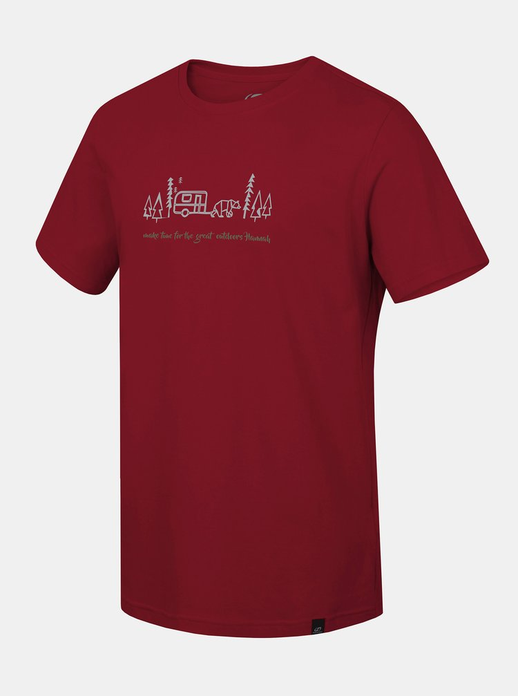 Červené pánské tričko s potiskem Hannah Matar