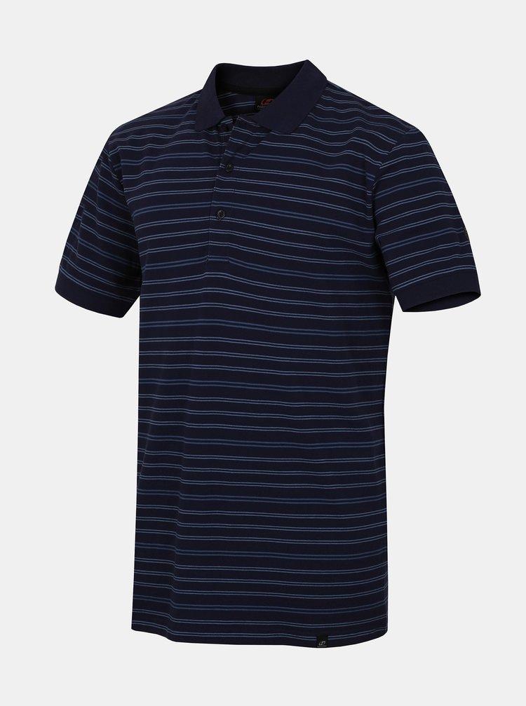 Tmavě modré pánské pruhované polo tričko Hannah Rugby