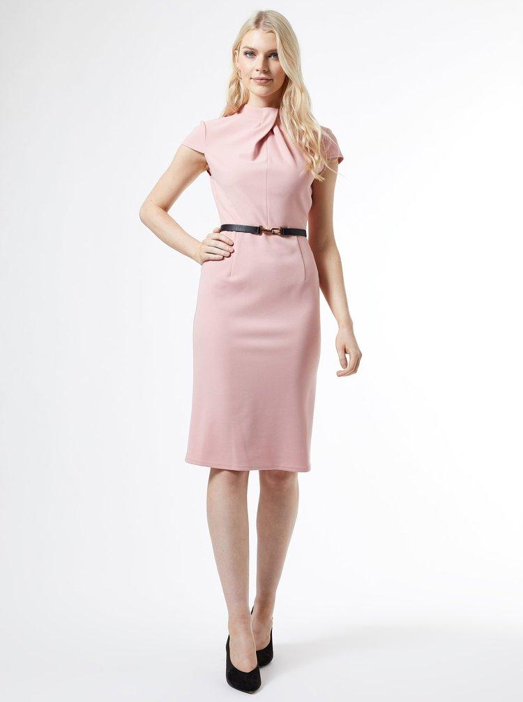 Ružové púzdrové šaty Dorothy Perkins