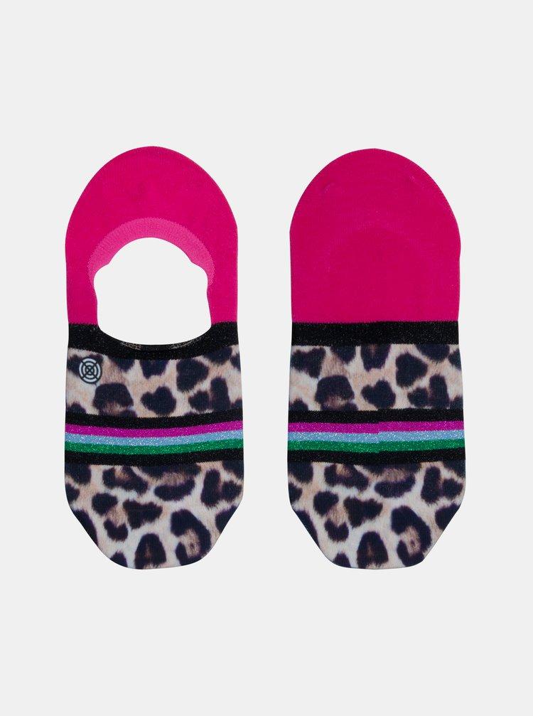 Černo-růžové dámské nízké ponožky XPOOOS