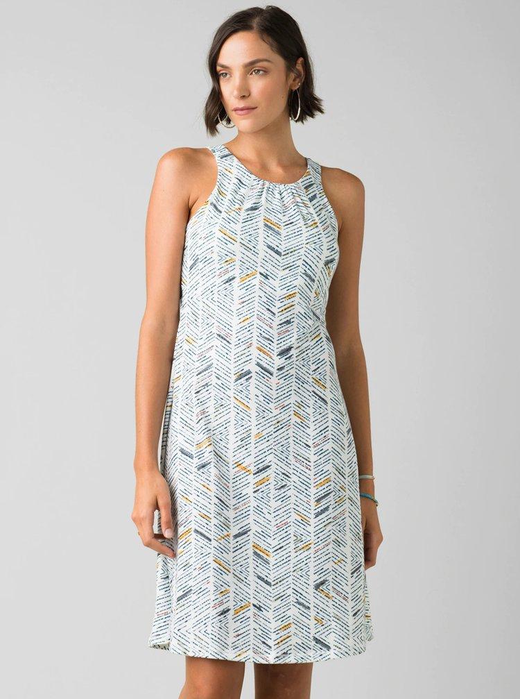 Bílé vzorované šaty prAna Skypath