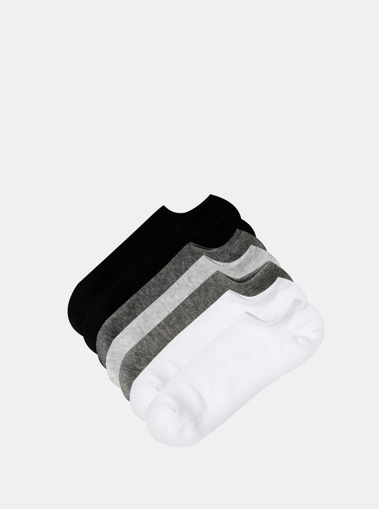 Sada siedmich párov nízkych ponožiek v bielej a šedej farbe TALLY WEiJL