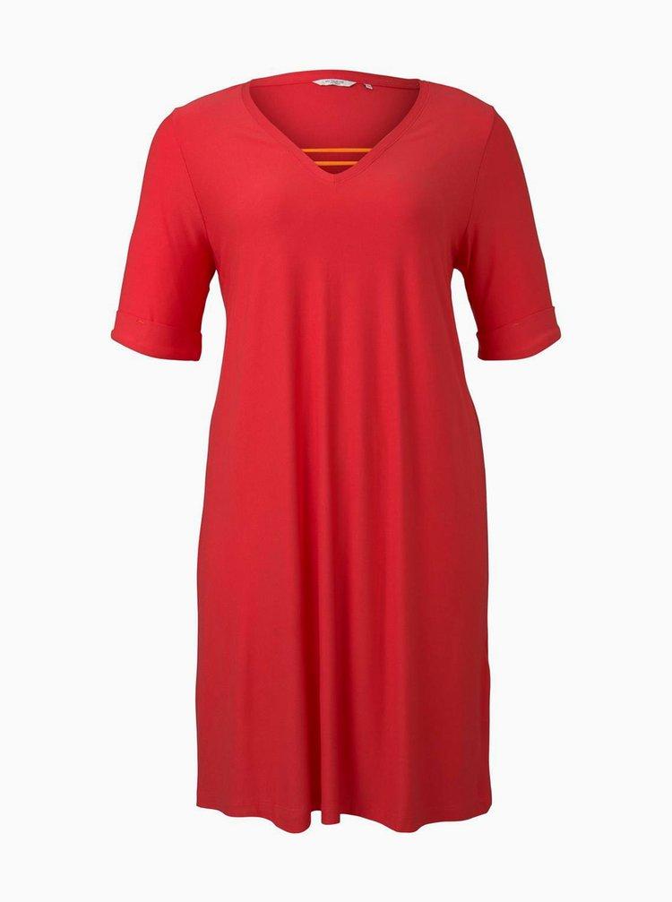 Marimi curvy pentru femei My True Me Tom Tailor - rosu