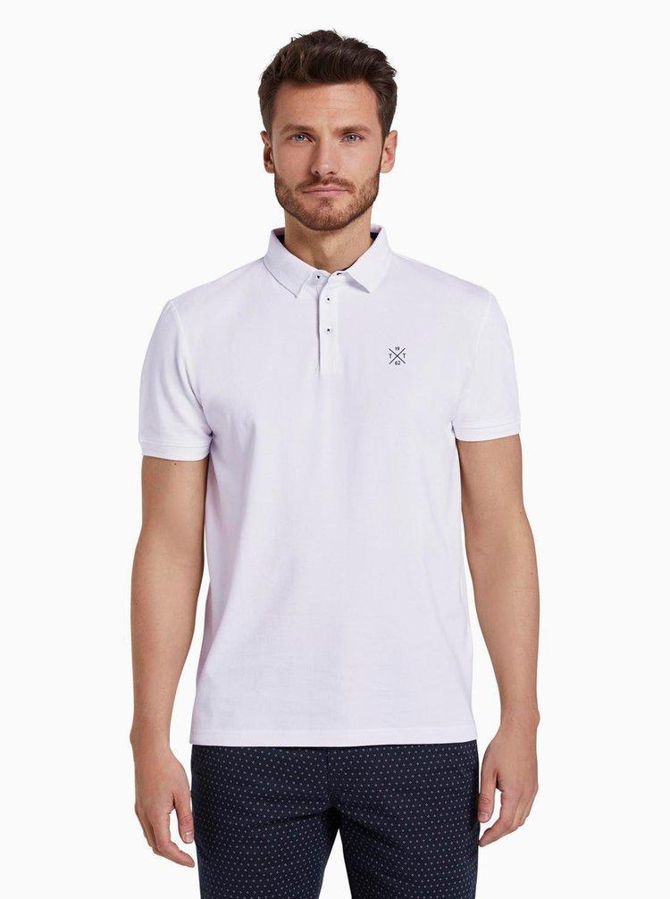 Bílé pánské polo tričko Tom Tailor