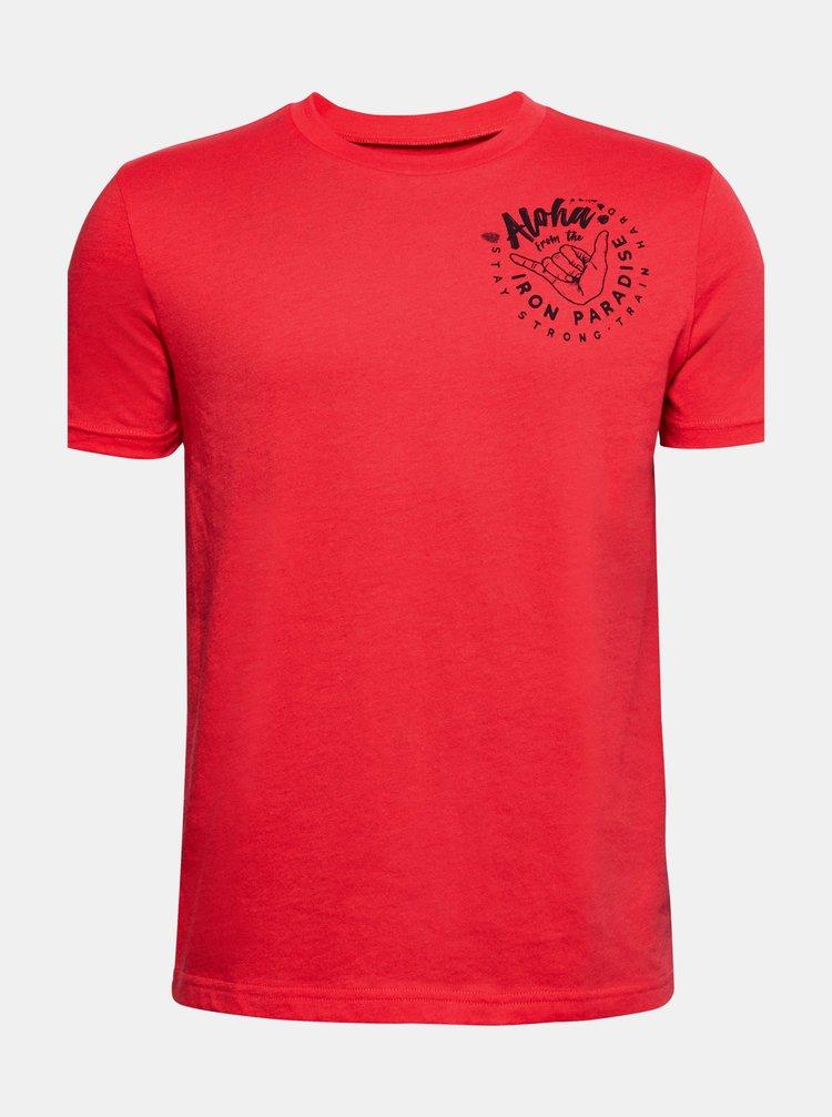 Červené klučičí tričko Rock Iron Under Armour