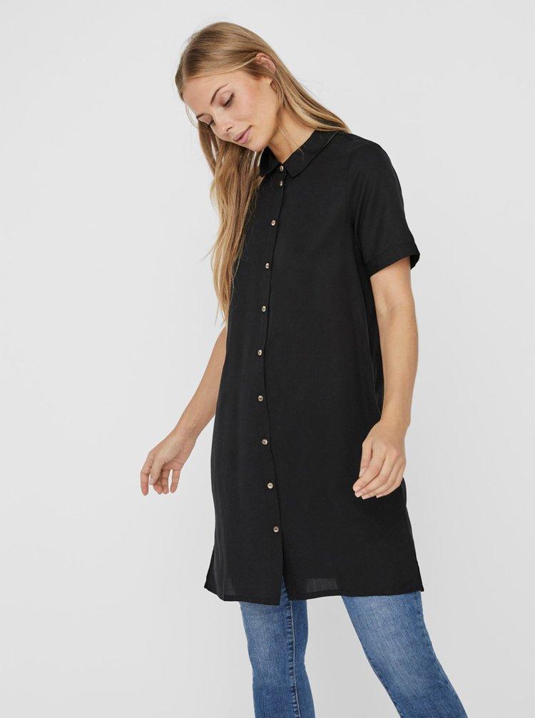 Černé košilové šaty VERO MODA Chloe