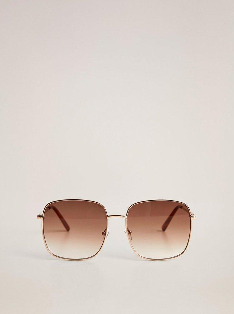 Hnědé sluneční brýle Mango Manuela