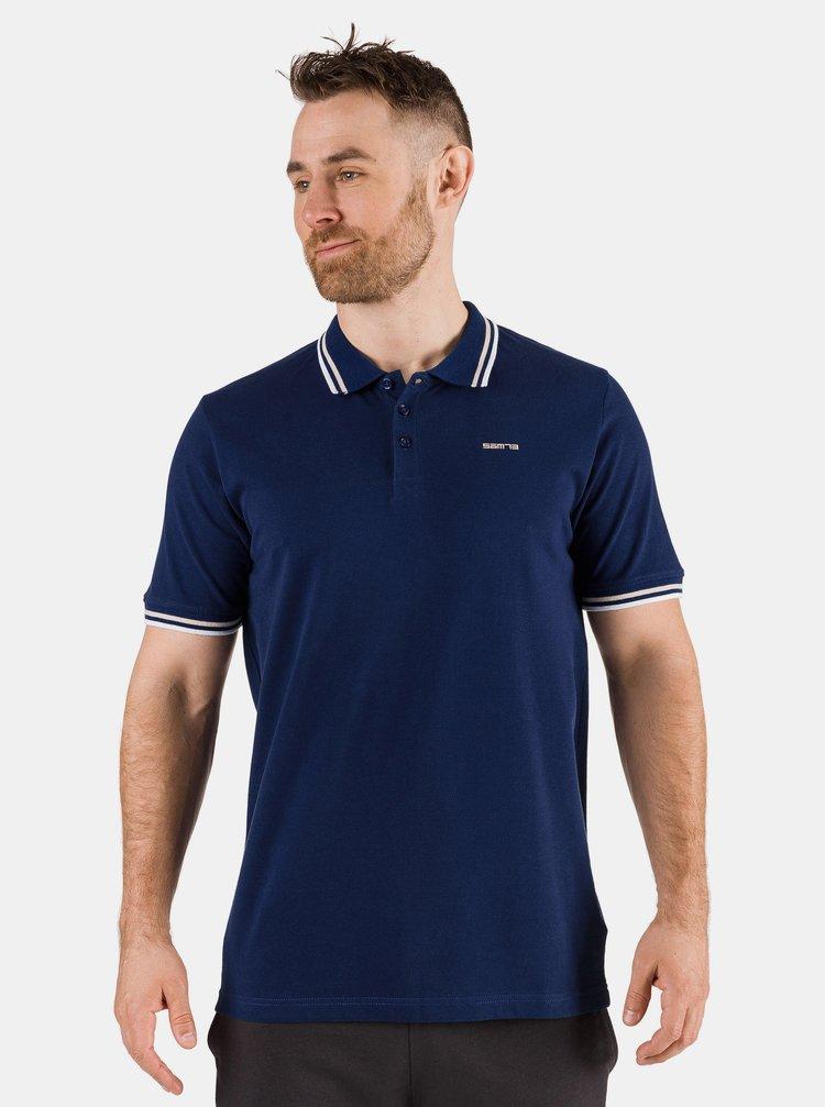 Tmavě modré pánské polo tričko SAM 73