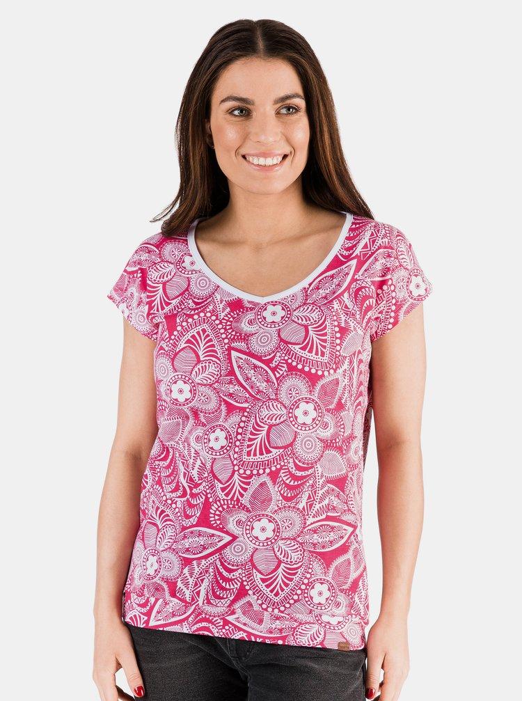 Růžové dámské květované tričko SAM 73