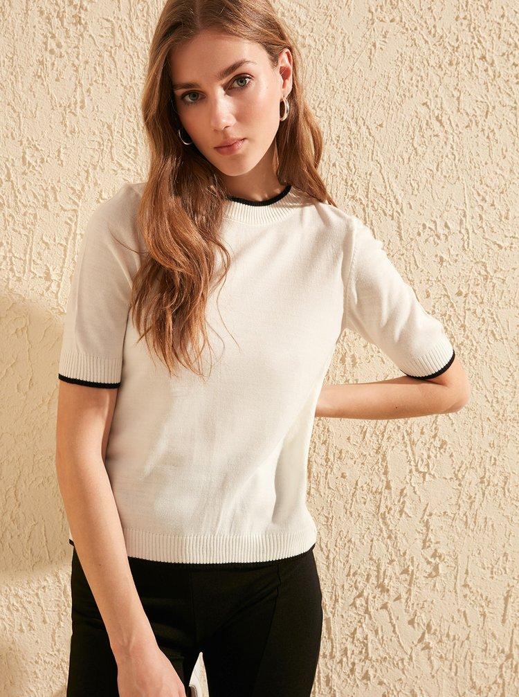 Krémové svetrové tričko Trendyol