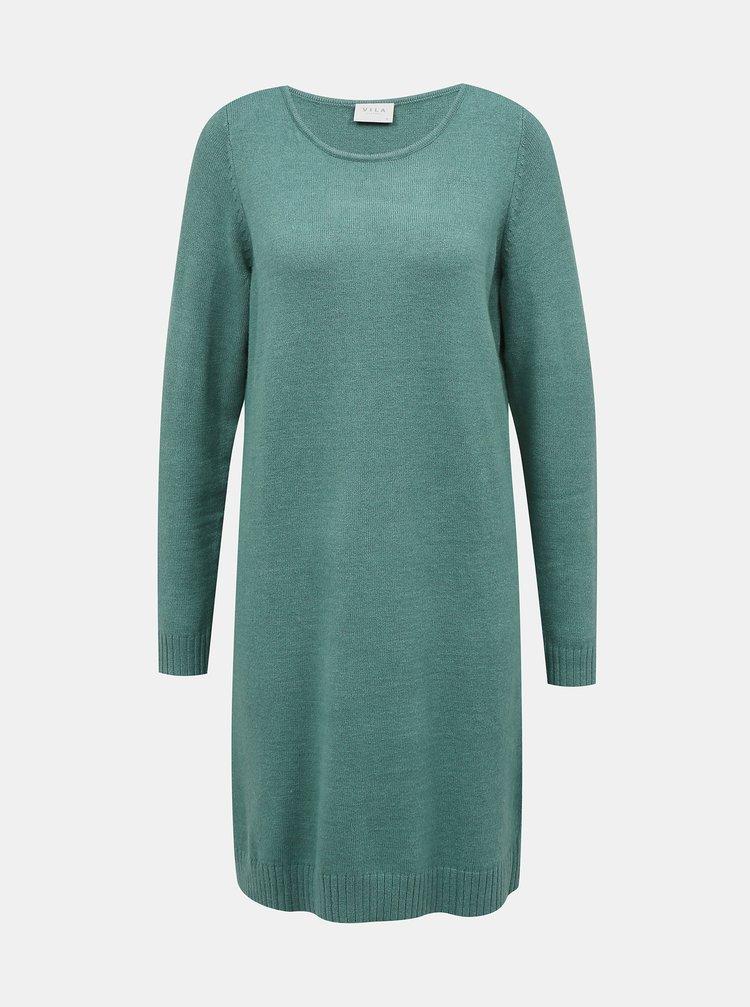 Mentolové svetrové šaty VILA