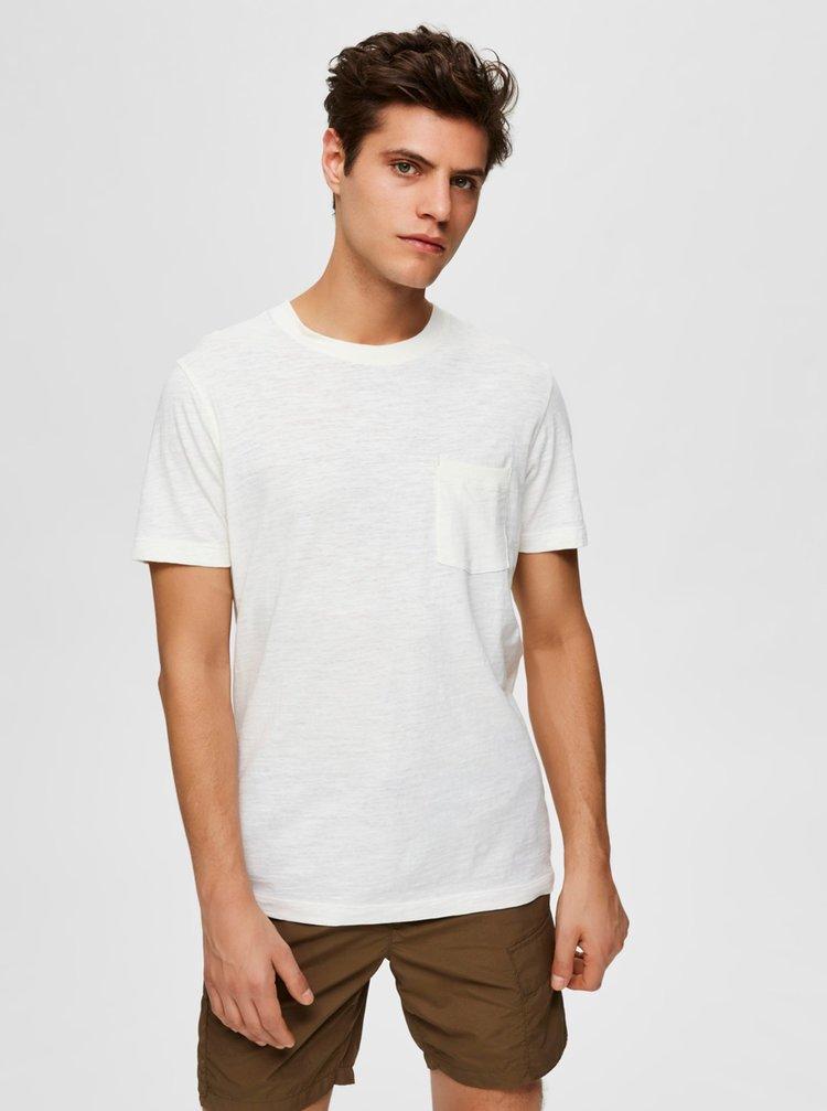 Bílé basic tričko Selected Homme Jared