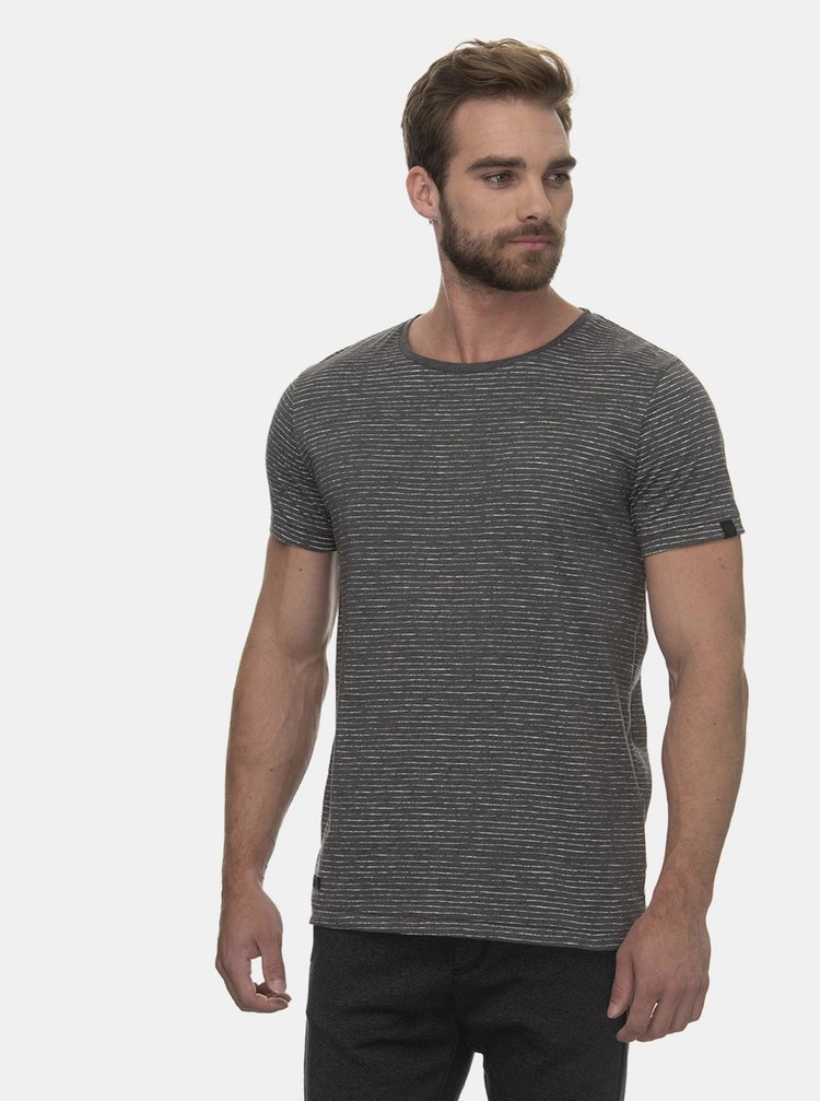 Šedé  pánské pruhované tričko Ragwear