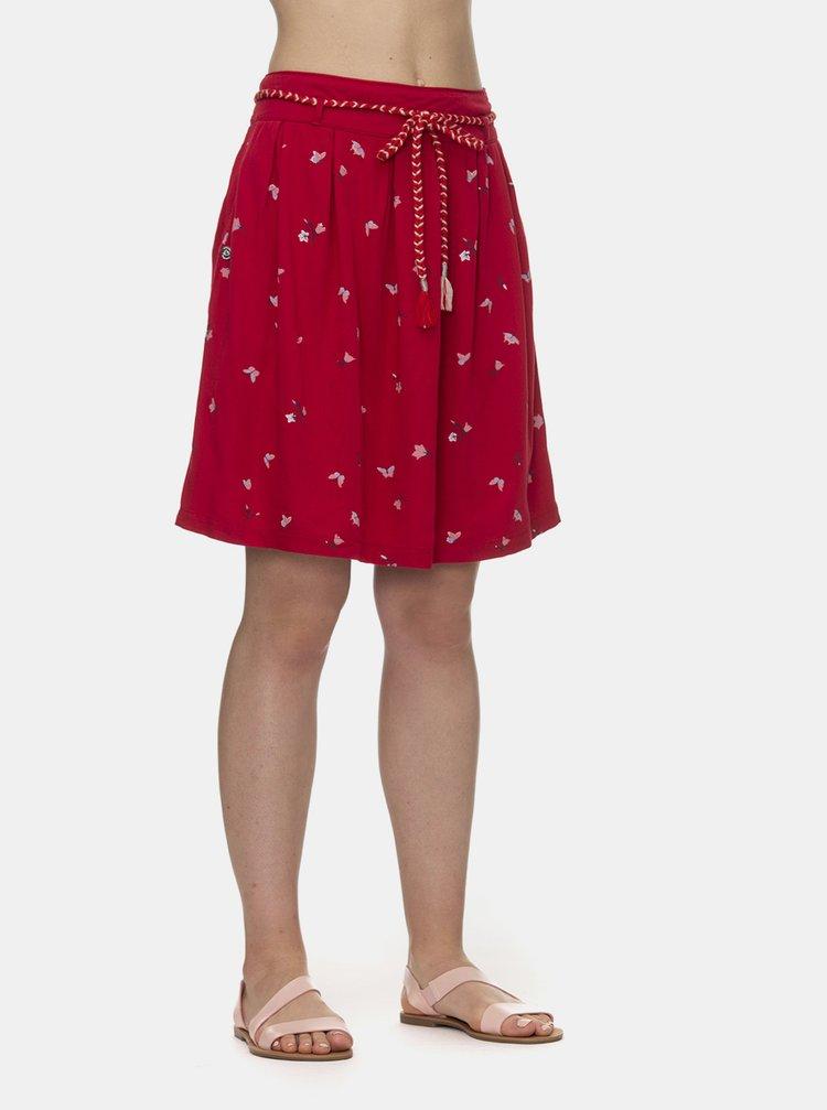 Červená vzorovaná sukně Ragwear