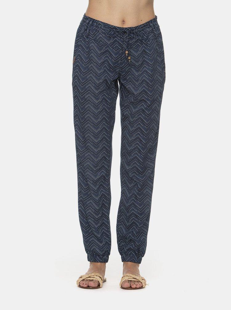 Tmavomodré dámske vzorované nohavice Ragwear