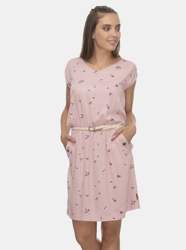 Světle růžové vzorované šaty Ragwear