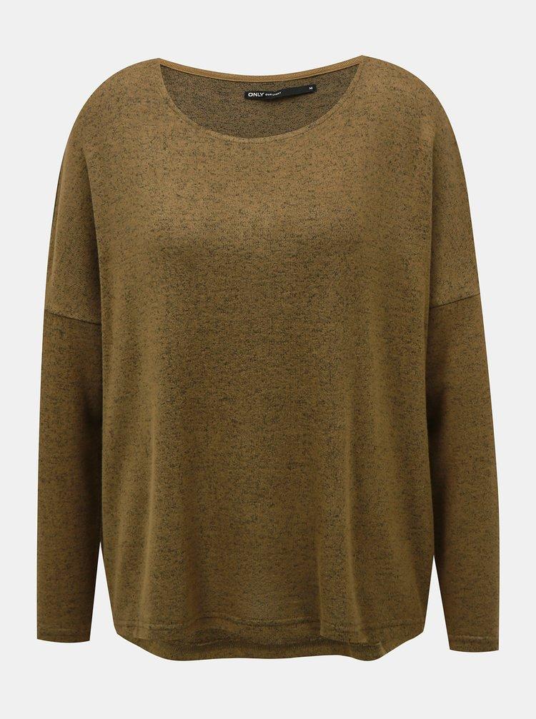 Kaki voľný sveter ONLY