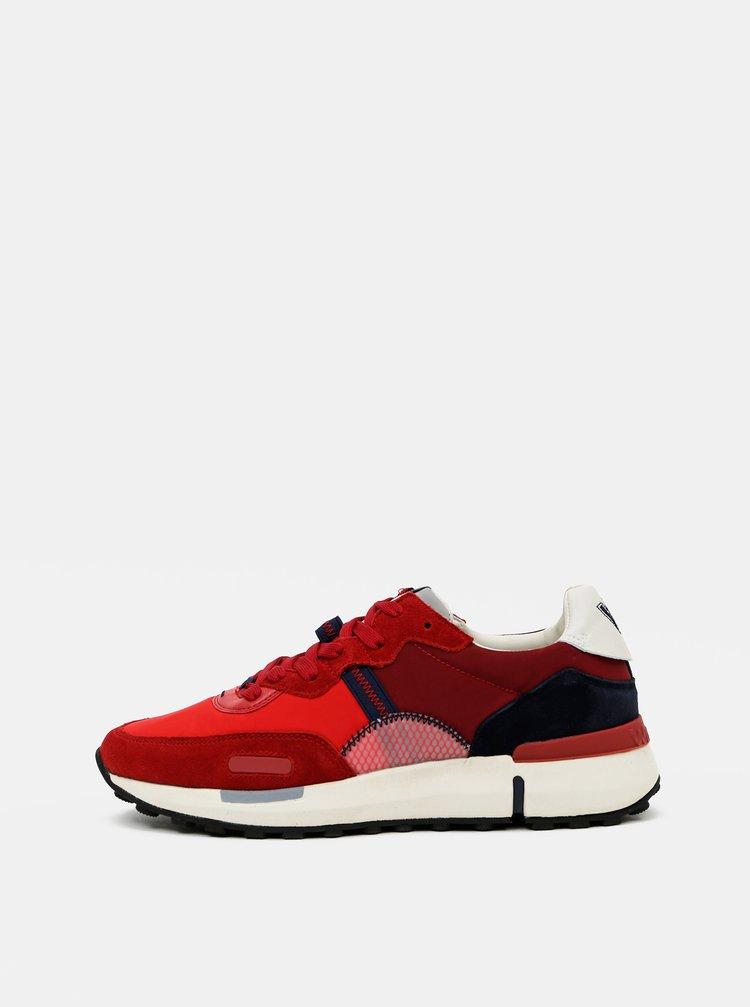 Červené pánské kožené tenisky Wrangler