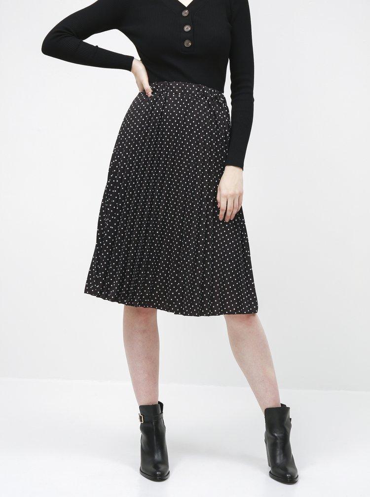 Černá puntíkovaná plisovaná sukně Haily´s Leah