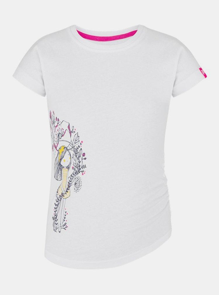 Bílé holčičí tričko s potiskem LOAP Barue