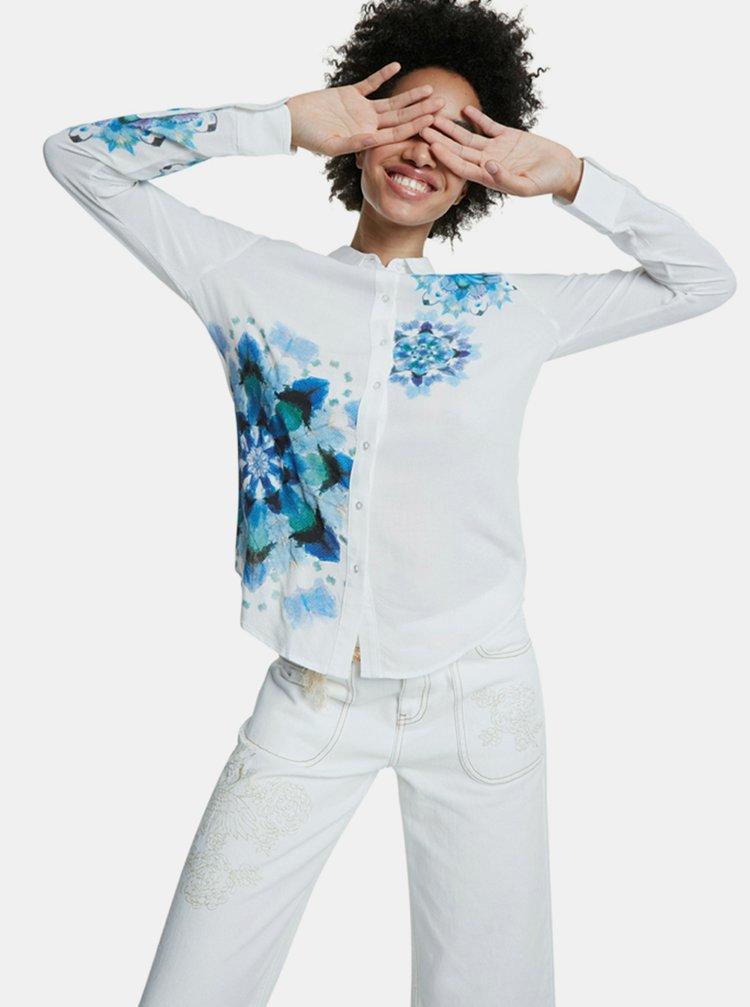 Modro-biela vzorovaná košeľa Desigual
