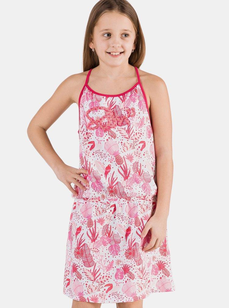 Růžové vzorované holčičí šaty SAM 73 Lemo