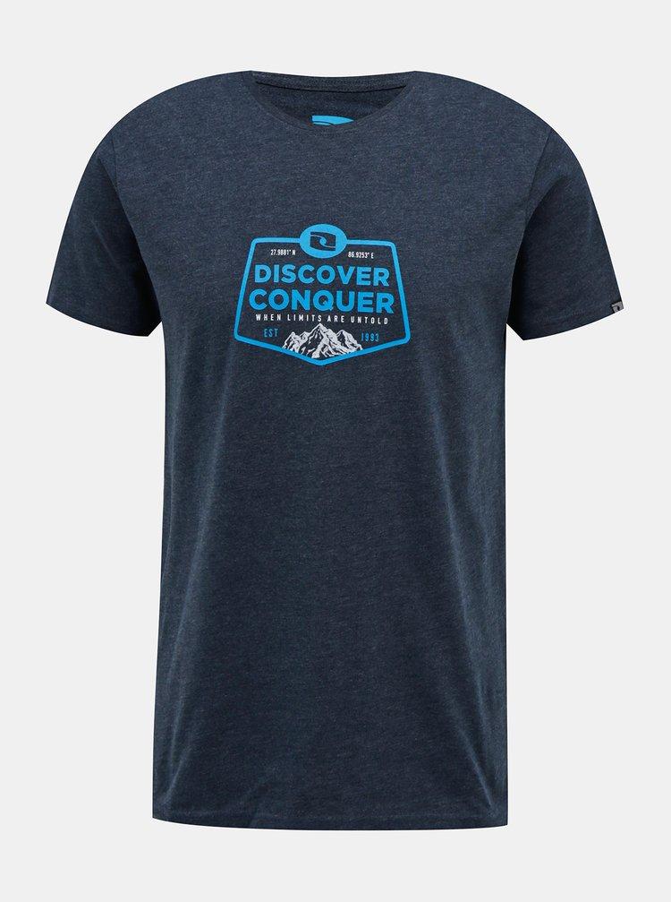 Tmavě modré pánské tričko s potiskem LOAP Bolvin