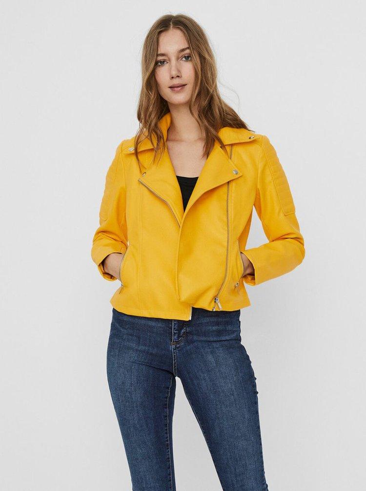 Jachete din piele naturala si sintetica pentru femei Noisy May - galben