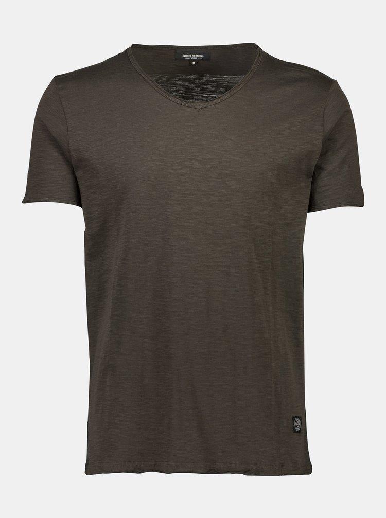 Tmavohnedé tričko Shine Original