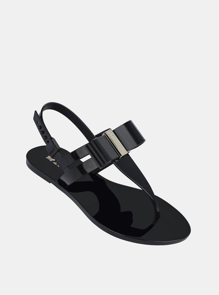 Čierne dámske sandále Zaxy