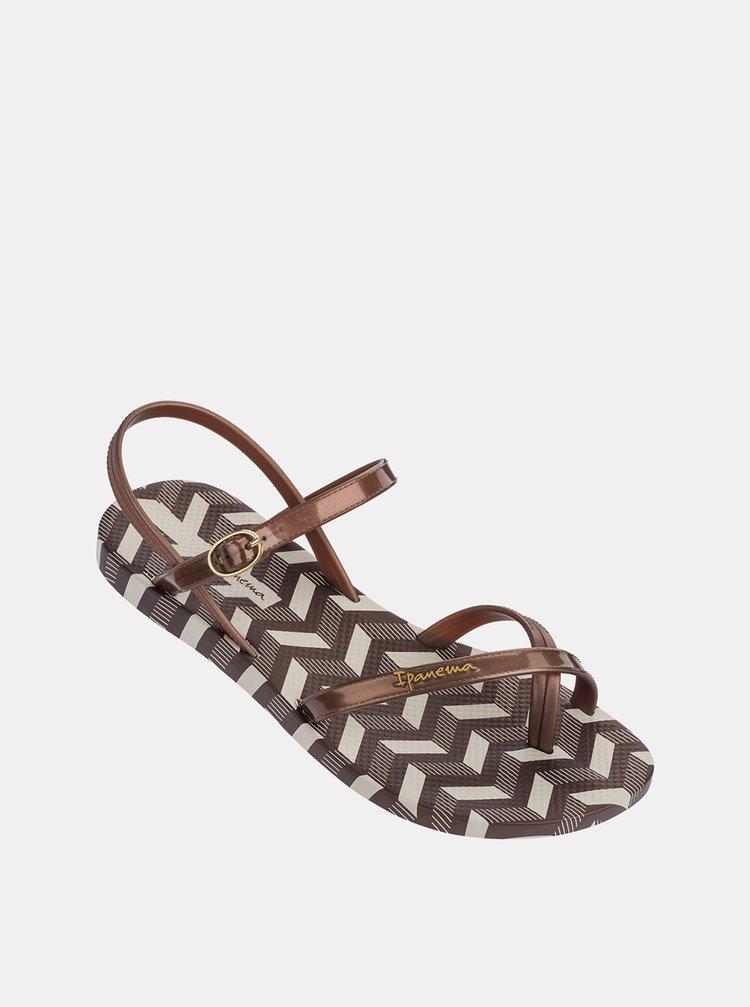 Hnědé dámské sandály Ipanema