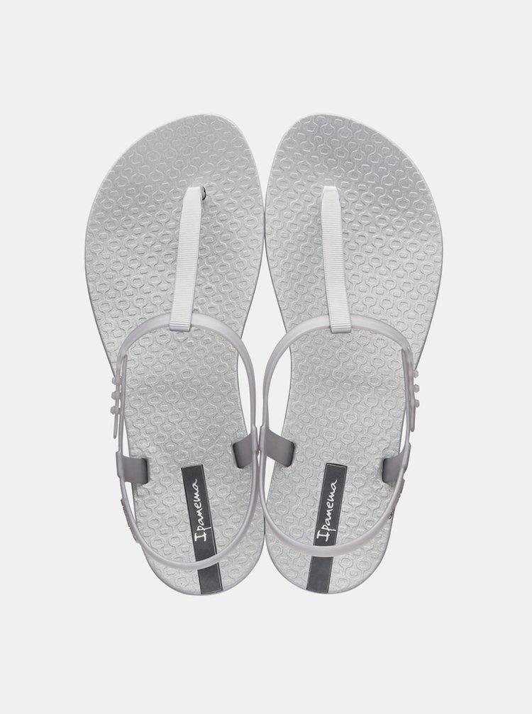 Metalické sandály ve stříbrné barvě Ipanema Class Exclusive